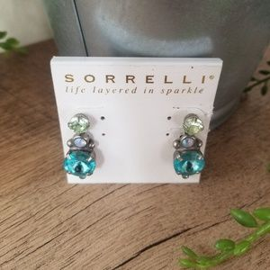 Sorrelli earrings Artsy Abode double drop crystal